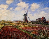 A Field Of Tulips In Holland Cross Stitch Pattern