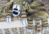 Hand Knitted Childs Multicoloured Random Dog Scarf   FREE SHIPPING