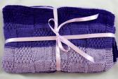 Hand Knitted Patterned Bay Blanket In Various Purple Colours   FREE SHIPPING