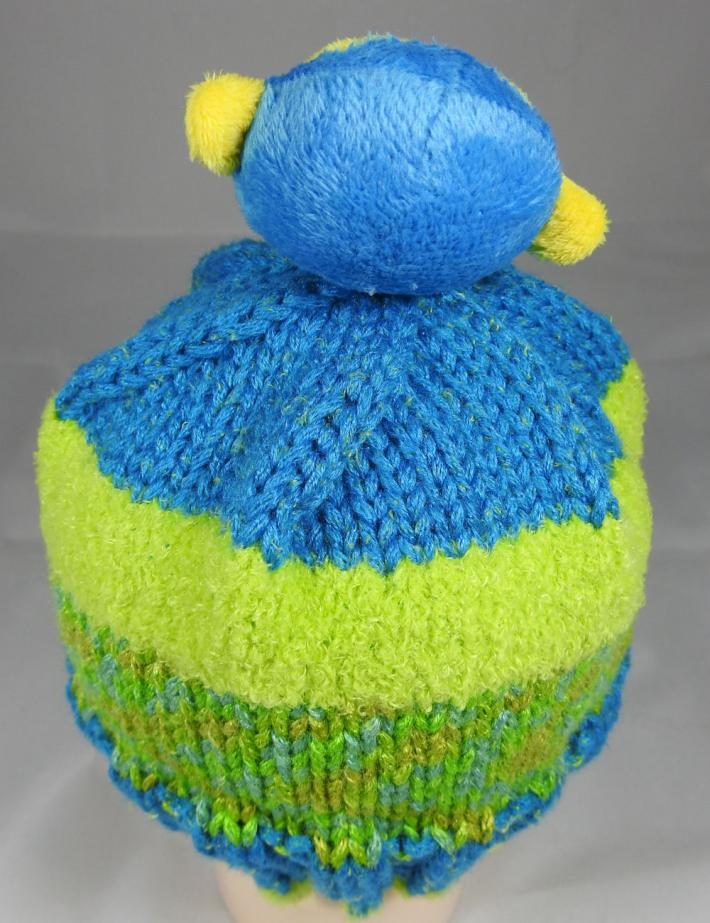 Knitted Childs Random Coloured Monkey Winter Hat  FREE SHIPPING