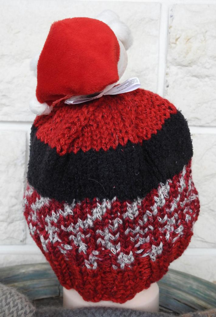 Knitted Childs Ramdom Coloured Santa Claus Hat  FREE SHIPPING