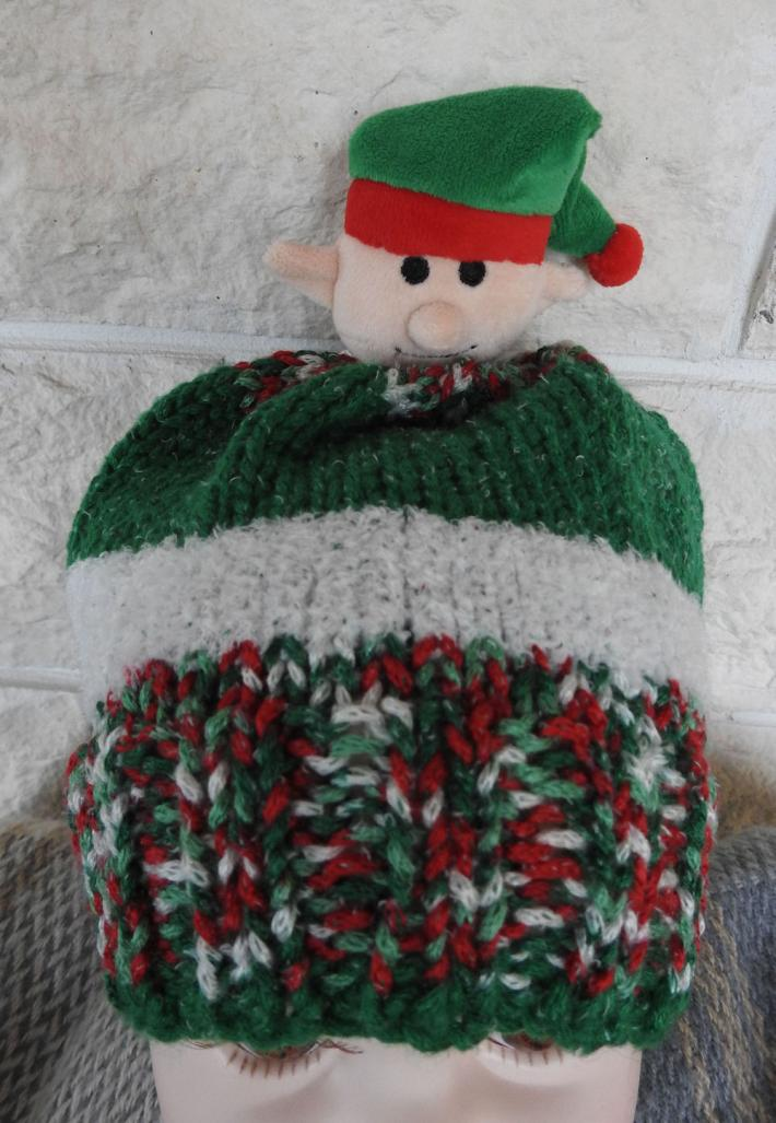 Childs Knitted Christmas Elf Random Winter Hat   FREE SHIPPING