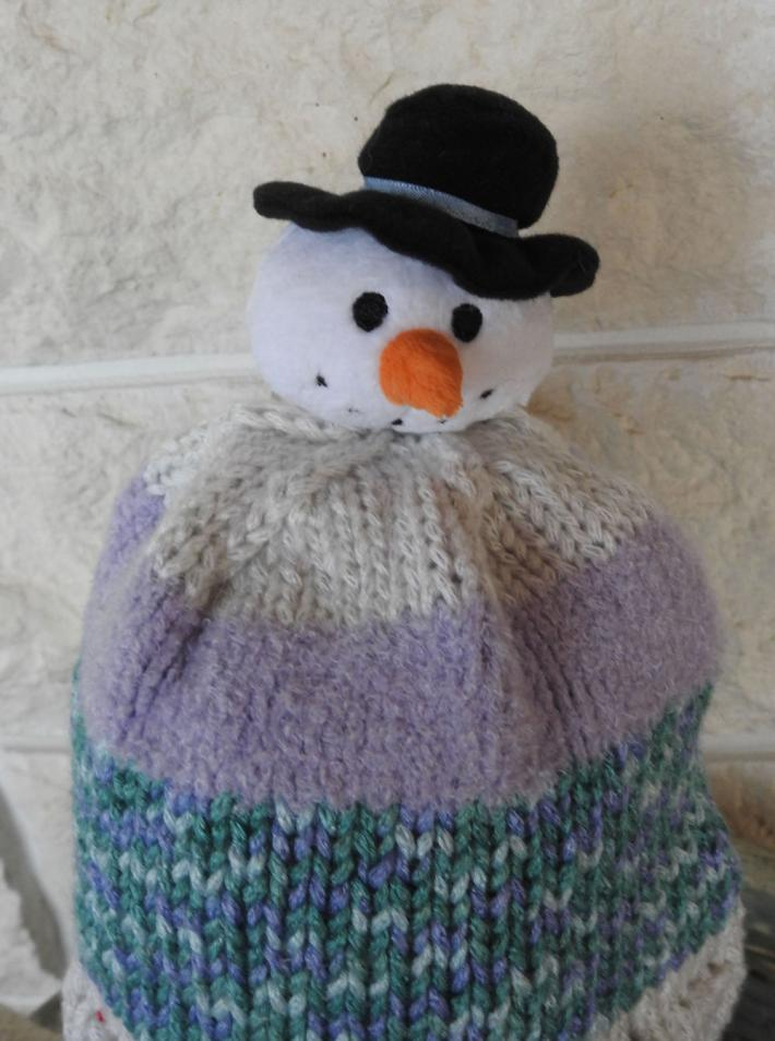 Knitted Small Childs Random Snowman Winter Hat   FREE SHIPPING