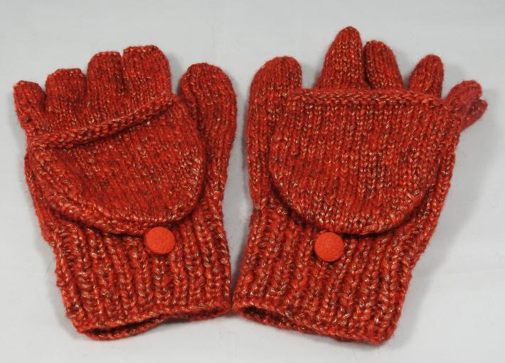 Knitted Red Random Coloured Convertible Gloves  Free Shipping