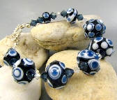 Handcrafted Lampwork Glass Bead Bracelet