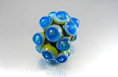 Handmade Lampwork Glass Large Focal Bead