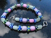 Lampwork Bead Necklace Handcrafted Glass Handmade Wearable Art Jewelry