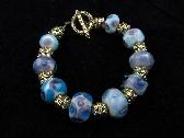 Handmade Lampwork Bead Bracelet Handcrafted Wearable Art Jewelry