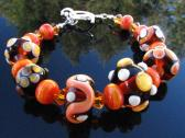 Lampwork Bead Bracelet Handmade Glass Handcrafted Wearable Art Jewelry