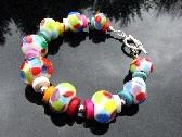 Lampwork Bracelet  Handcrafted Glass Beads Handmade Wearable Art Jewelry