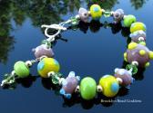 Lampwork Bracelet Handmade Wearable Art Glass Handcrafted Bead Jewelry SRA SRAJD