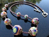 Lampwork Bead Necklace Handcrafted Glass Handmade Artisan Jewelry SRA and SRAJD