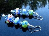 Lampwork Bead Earrings Handcrafted Wearable Art Jewelry Handmade Glass SRA SRAJD