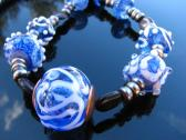 Lampwork Necklace Handcrafted Glass Beads Handmade Artisan Jewelry SRA SRAJD