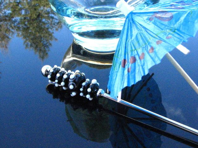 Swizzle Drink Stir Stick Artisan Lampwork Glass Beads