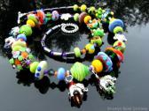 Lampwork Necklace Handmade Glass Beads Artisan Handcrafted Jewelry Design SRAJD