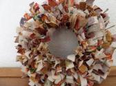 6 ince Fall Time Mini Rag Wreath