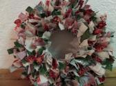 6 inch Christmas Past Mini Rag Wreath