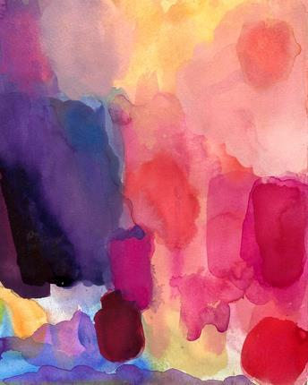 Abstract Art Print of Watercolor Painting Daybreak