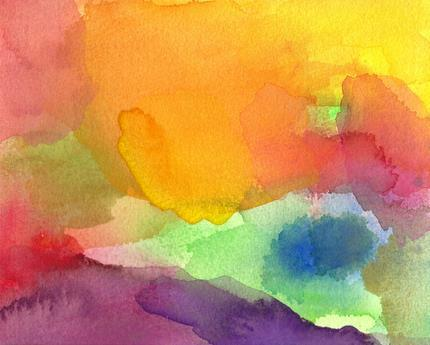 Art Print of Abstract Watercolor Painting Paradise