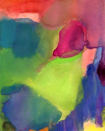 Art Print of Watercolor Painting In My Heart