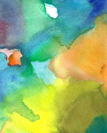 Art Print of Abstract Painting Open
