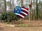 American Flag Heart Red White Blue Stars