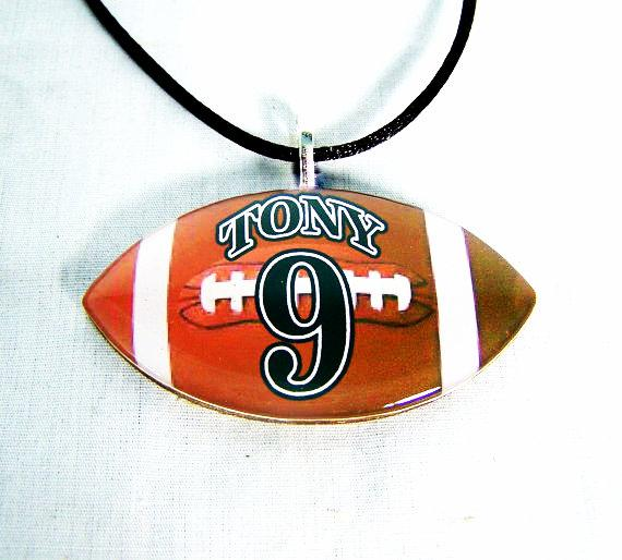 Personalized Football Necklace