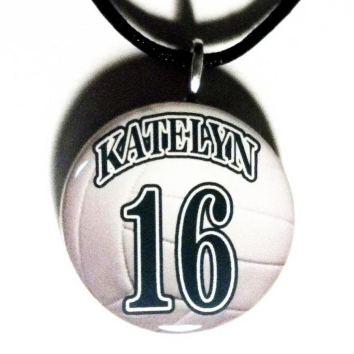 Personalized Volleyball Pendant Necklace Sports Jewelry Players Fans Moms Team Gifts