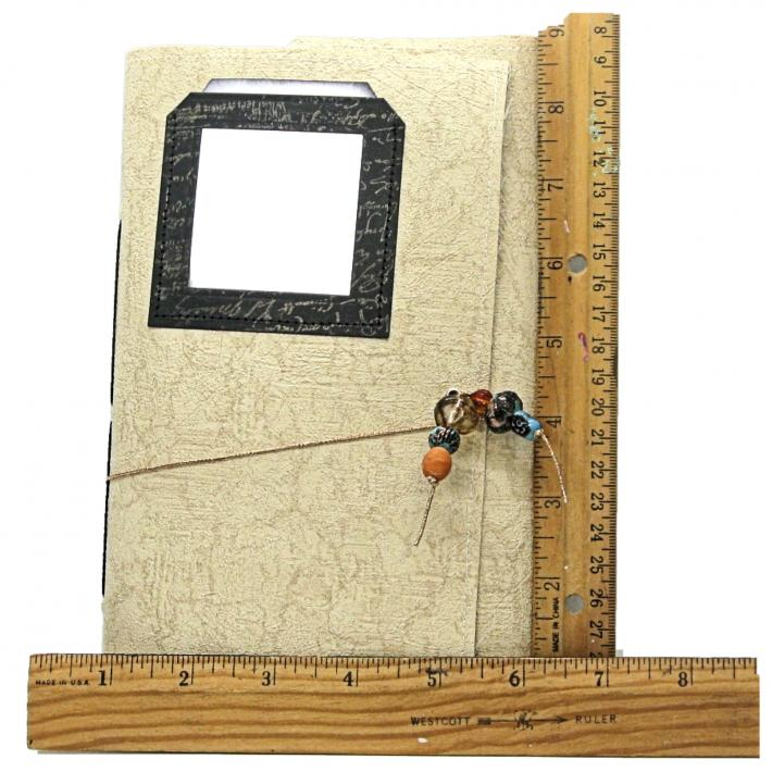 One Year Personal Journal 12 Months Blank Pages 12 Pockets 96 Pages Cream Textured Cover