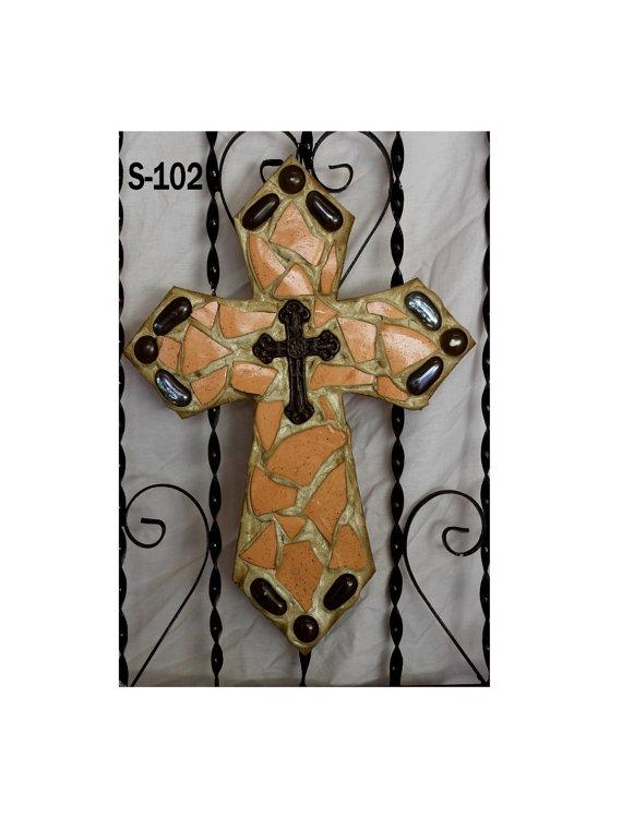 Mosaic Wall Cross S102
