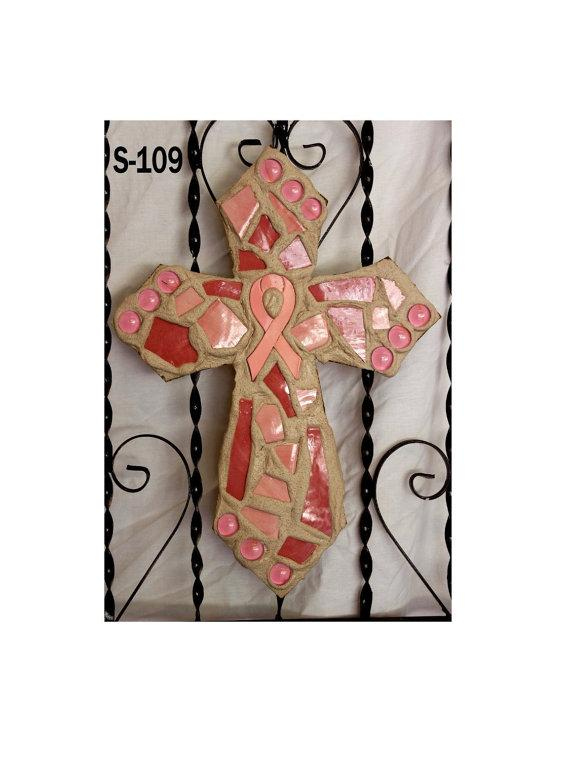 Pink Breast Cancer Awareness Wall Cross S109