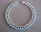Sprite Aquamarine Czech Glass Beaded Bracelet