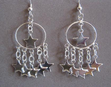 Oh My Stars Sterling Silver Star Charm Earrings