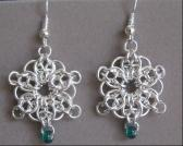 Star Bright Mini Chainmaille Earrings
