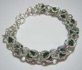 Erin Chainmaille Emerald Green Beaded Bracelet