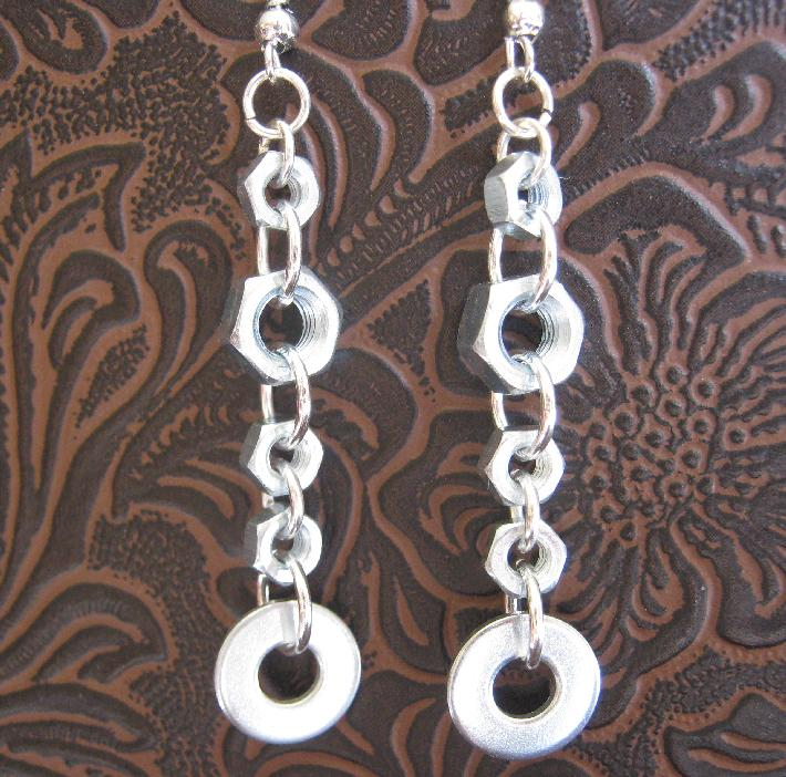 Hexes and Os Hardware Earrings