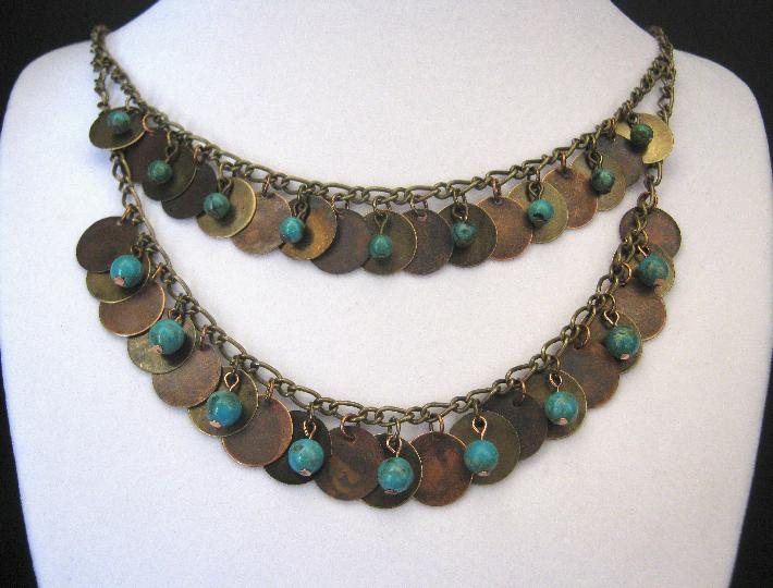 Kahleesi Necklace Bronze and Copper Set