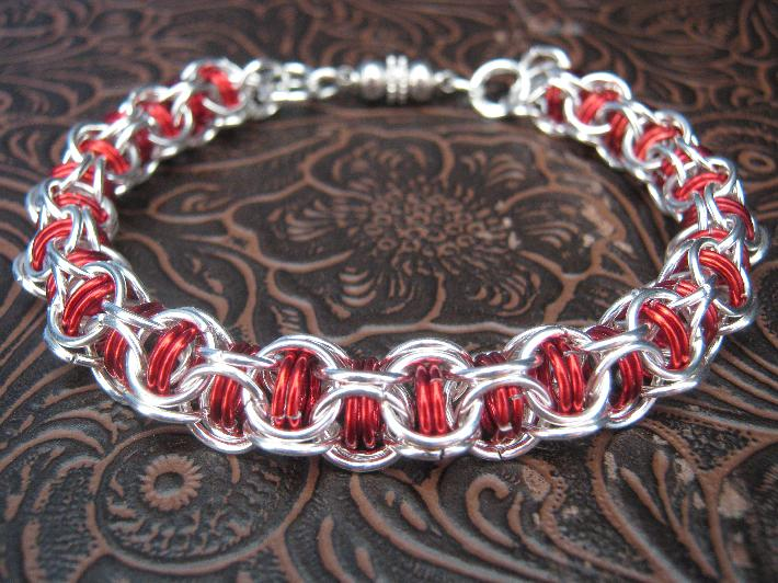 Candy Apple Chainmaille Bracelet