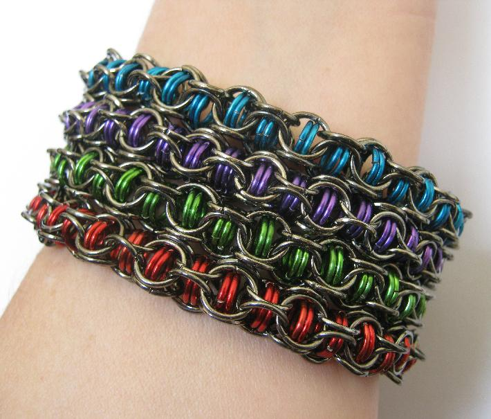 Mysterious Maille Bracelets Set of Four