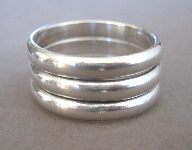 Love Honor Cherish Sterling Silver Wedding Ring