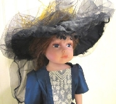 DOLLY BRIMMED HAT 16 TO 18 INCH DOLL