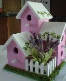 Lavender Ivy Birdhouse