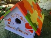Rainbow Puzzle Birdhouse