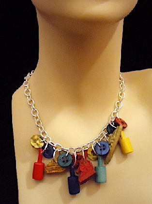 Game Pieces Necklace