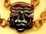 Bakelite Mask Necklace