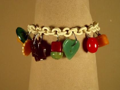 Bakelite Charmers Bracelet