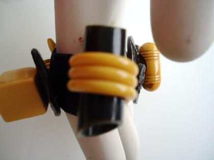 Black Eyed Susan Bakelite Bracelet