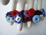 Midcentury Color Vintage Button Bracelet