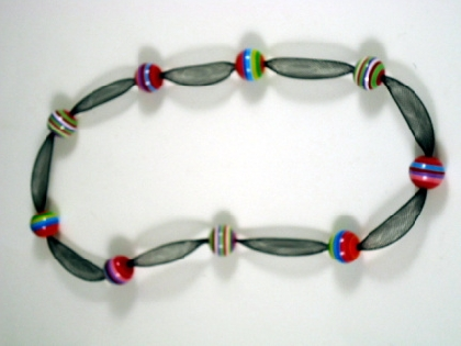 Festive Stripes Necklace